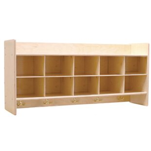 Contender 10 Compartment Cubby by Wood Designs