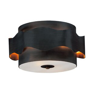 George Oliver Plainville 2-Light Flush Mount