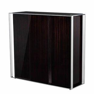 Ebony Wine Bar Cabinet