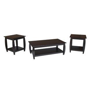 Winston Porter Dunne 3 Piece Coffee Table Set