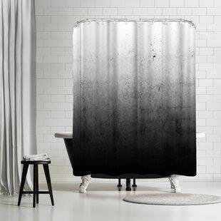 Reviews Emanuela Carratoni Black Ombre Shower Curtain ByEast Urban Home