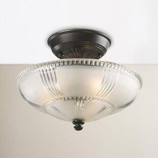 Albreda 3-Light Semi Flush Mount by Fleur De Lis Living