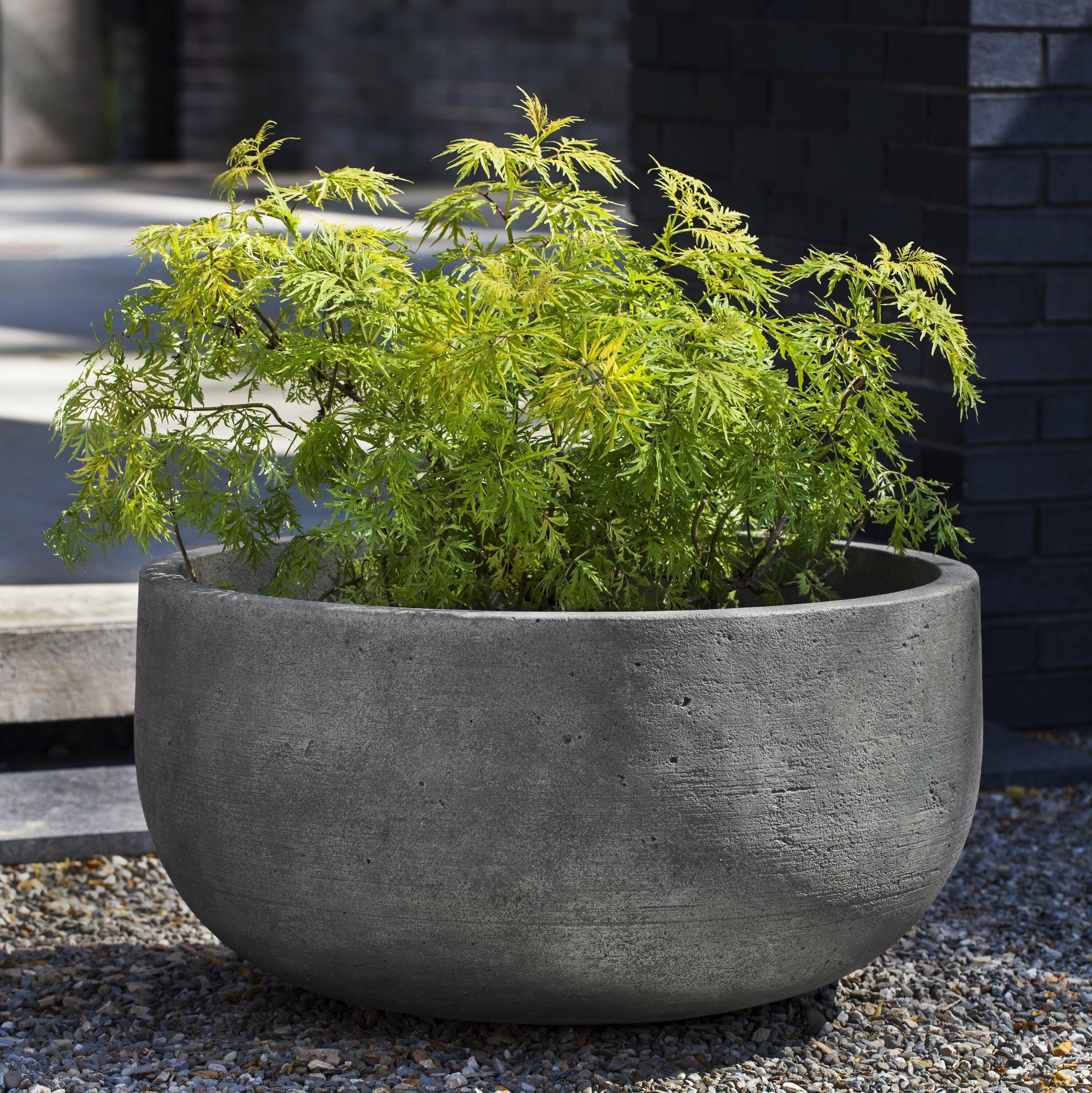 17 Stories Tribeca Cast Stone Pot Planter Wayfair