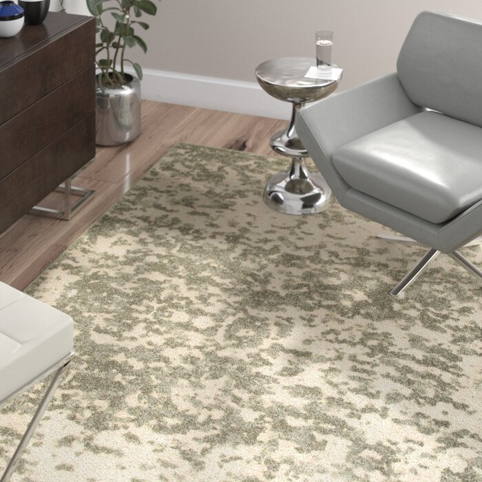 Leonidas Abstract Ivory Gray Area Rug