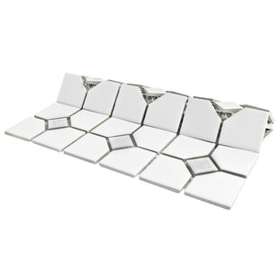 Cambridge Porcelain Mosaic Tile in Glossy White