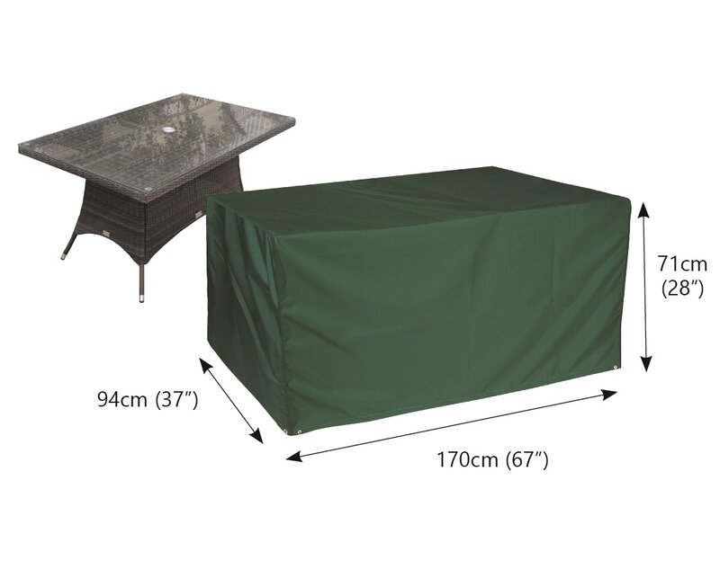 Rectangular Water Resistant Patio Table Cover