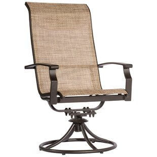Latitude Run Ramon Swivel Patio Dining Chair (Set of 2)
