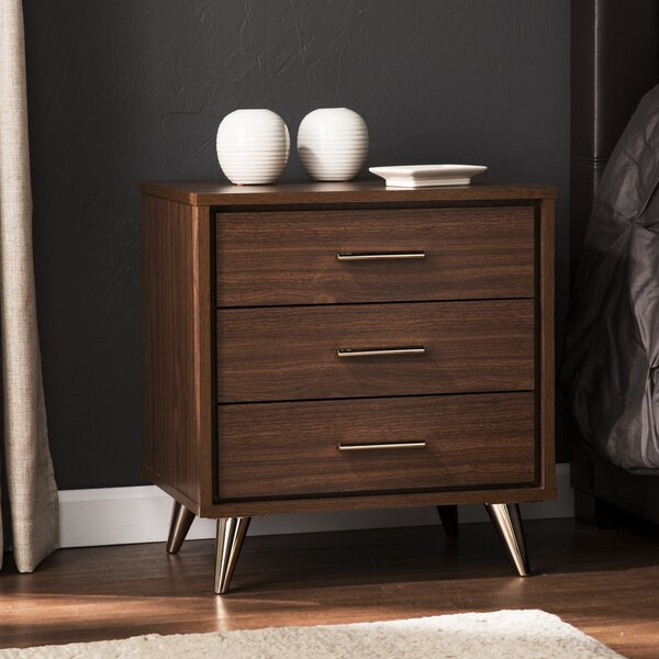 Blouin 3 Drawer Nightstand