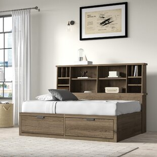 Strasburg Platform Bed with Bookcase and Drawers by Greyleigh