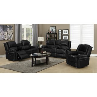 Aissatou 3 Piece Reclining Living Room Set by Ebern Designs SKU:DA327589 Information