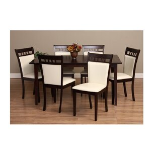 Shirlyn 7 Piece Solid Wood Dining Set Warehouse of Tiffany
