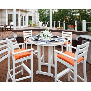 Trex Outdoor Monterey Bay 5 Piece Bar Height Dining Set