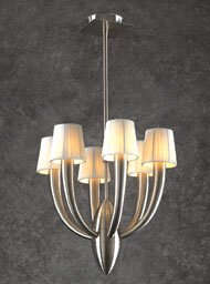 House of Hampton Lonegan 6-Light Shaded Chandelier