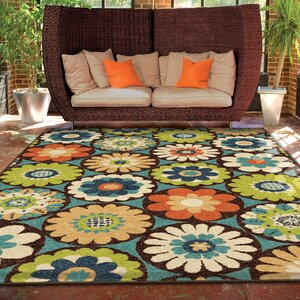 Ginther Green Indoor/Outdoor Area Rug