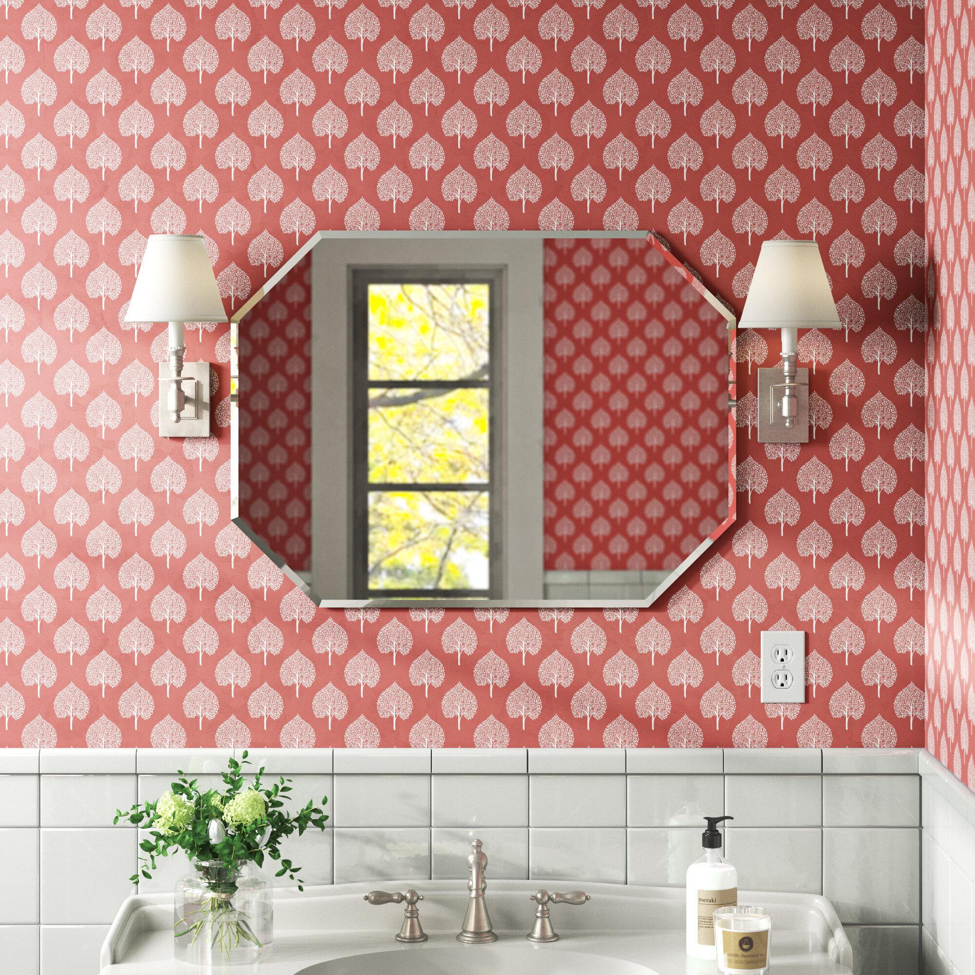 Andover Mills Pate Frameless Beveled Wall Mirror Reviews Wayfair