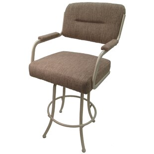 Sheryll 26 Swivel Bar Stool with Cushion Red Barrel Studio