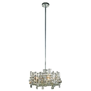 Nancee 4-Light Crystal Chandelier by Everly Quinn