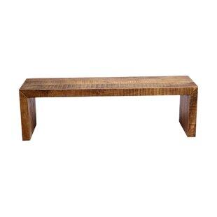 Union Rustic Luray Solid Mango Wood Bench