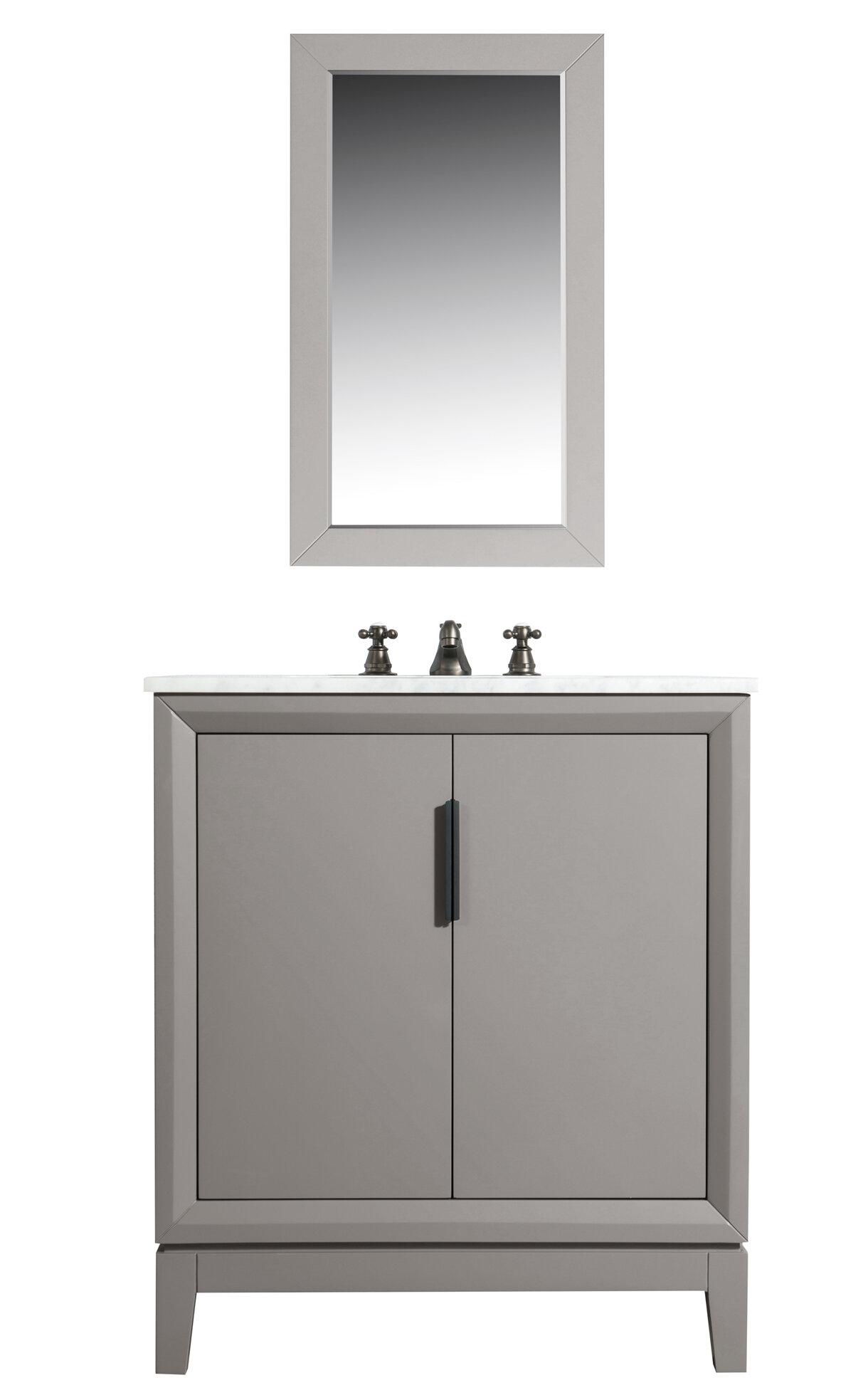 Tappahannock 30 Single Bathroom Vanity Set With Mirror Allmodern