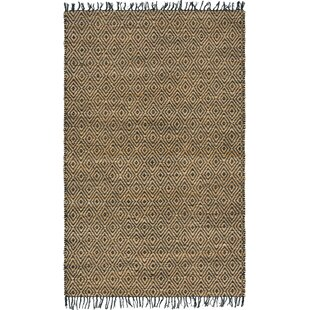 Where buy  Mcelhaney Hand-Woven Beige/Black Area Rug By Wrought Studio