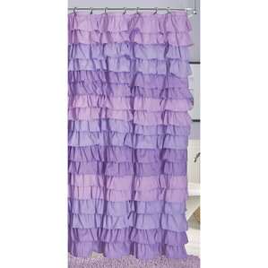 Venezia Luxury Ruffled Shower Curtain