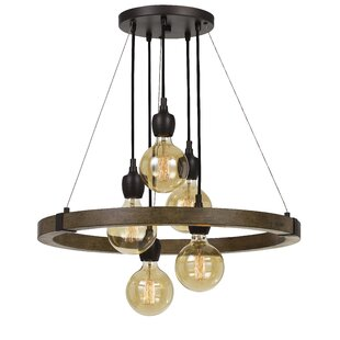 Brindle 5-Light Cluster Pendant by Williston Forge