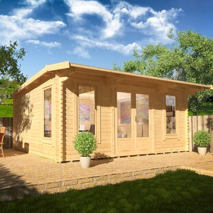 Procas 18 X 14 Ft. Tongue And Groove Log Cabin By Tiger Sheds