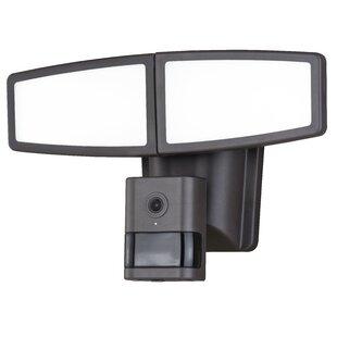 Freeport Park Swift Wi-Fi Camera LED Outdoor Floodlight with Motion Sensor