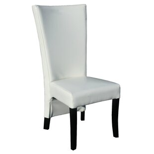 Chic Teak Cosmopolitan Genuine Leather Upholstered Dining Chair