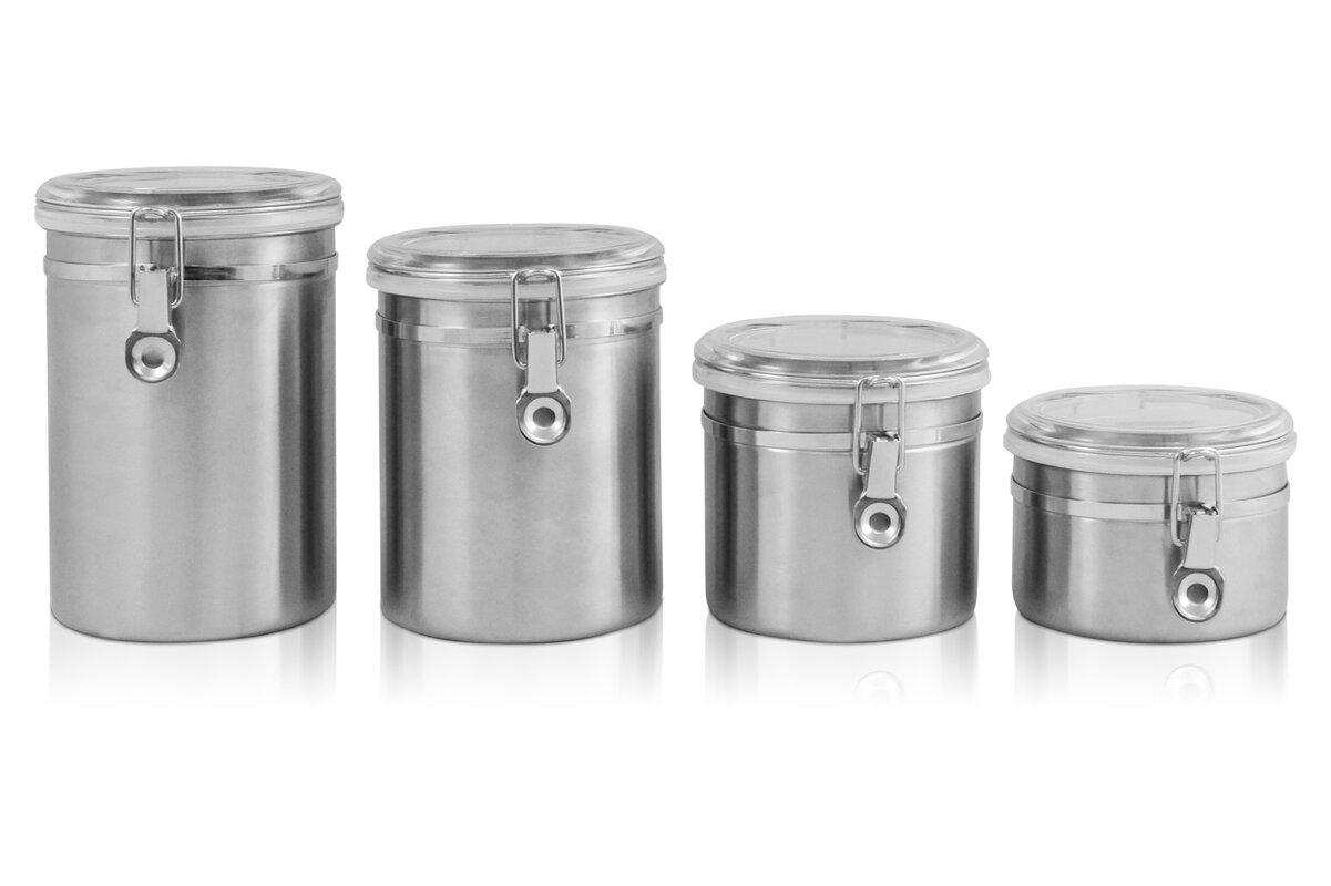 ragalta 4 piece kitchen canister set u0026 reviews wayfair