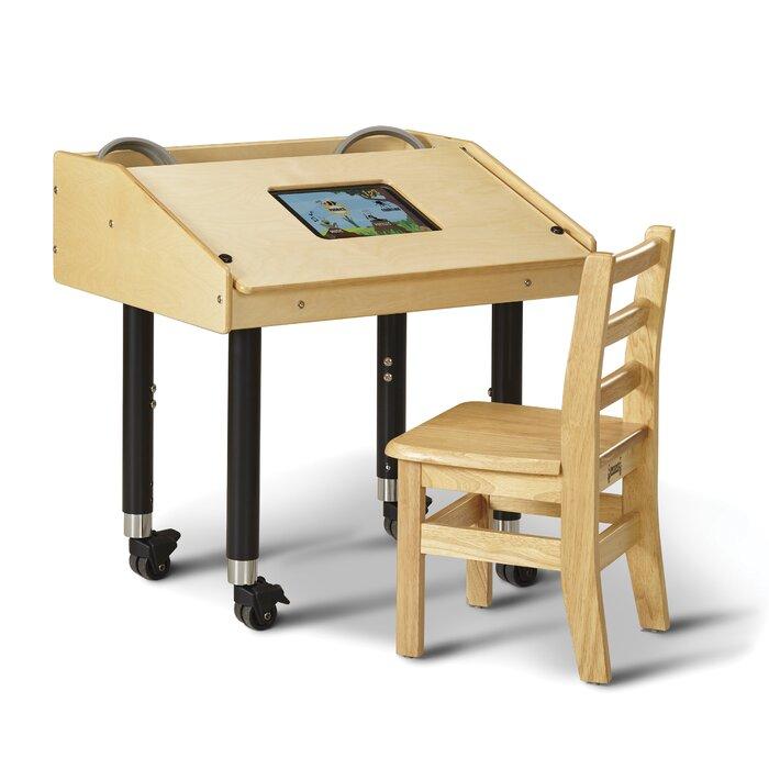 Brilliant Wood Adjustable Height Student Computer Desk Cjindustries Chair Design For Home Cjindustriesco