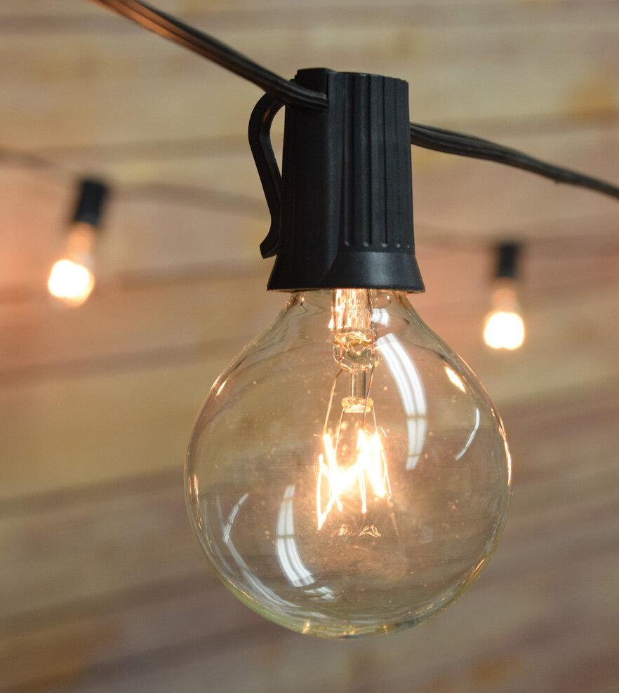 Thepaperlanternstore 51 ft 50 light globe string light reviews wayfair