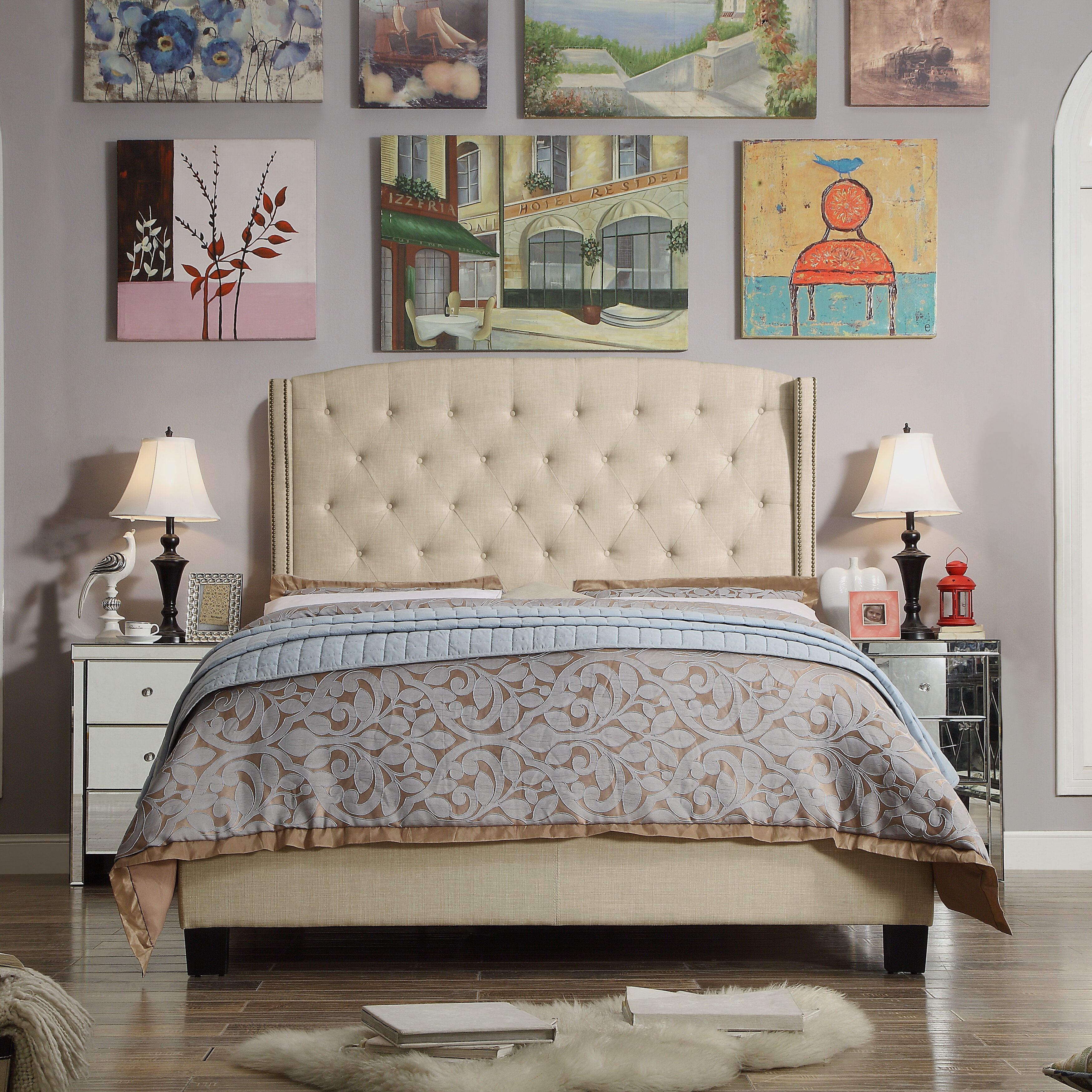 Glam Beds You Ll Love In 2021 Wayfair