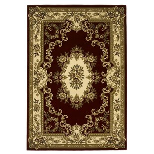 Barwin Aubusson Red & Ivory Area Rug by Astoria Grand