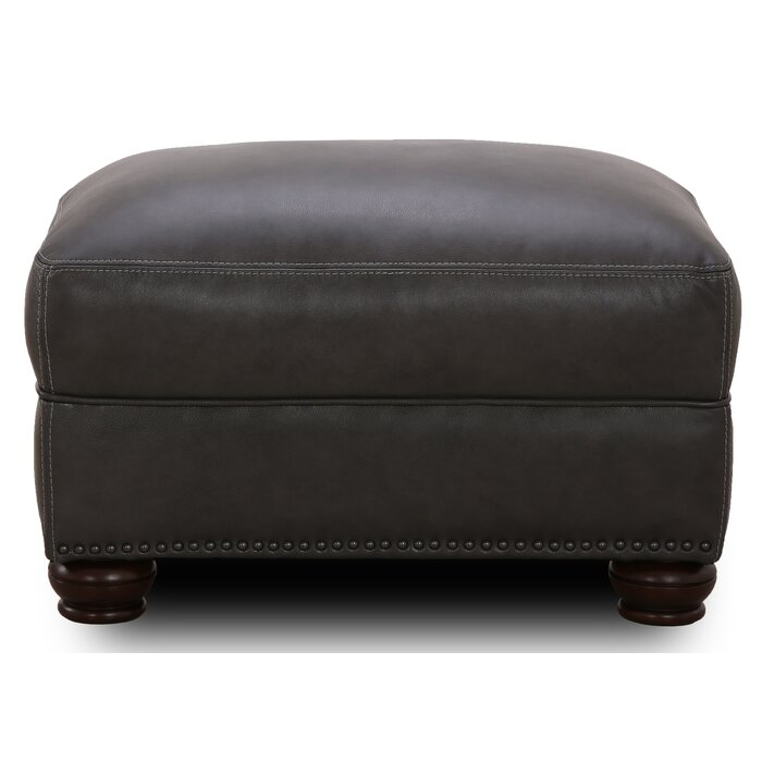 Admirable Bridgeview Leather Ottoman Squirreltailoven Fun Painted Chair Ideas Images Squirreltailovenorg