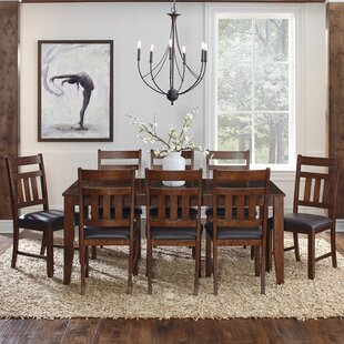 Caracara 9 Piece Extendable Solid Wood Dining Set