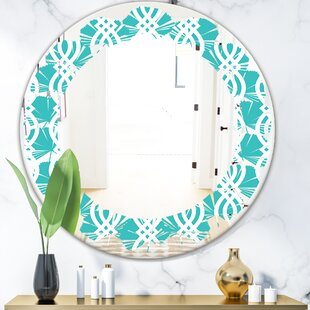 Leaves Abstract Design VII Coastal Wall Mirror