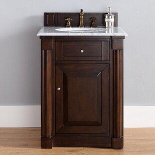 Maurice 26 Single Burnished Mahogany Wood Base Bathroom Vanity Set by Alcott Hill