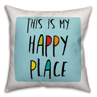 Eindhoven This is My Happy Place Throw Pillow
