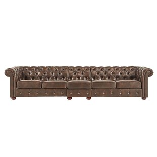 Gowans Traditional 6-Seater Button-Tufted Chesterfield Sofa