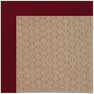 Lisle Machine Tufted Wine/Brown Indoor/Outdoor Area Rug
