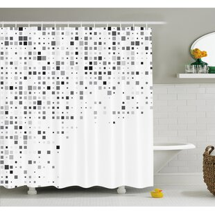 Pattern Composed of Geometric Elements Radiant Rectangle Parallel Picture Shower Curtain Set