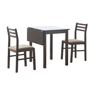Arquette 3 Piece Drop Leaf Dining Set