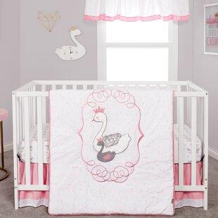 Great choice Carlock Swans 3 Piece Crib Bedding Set ByZoomie Kids