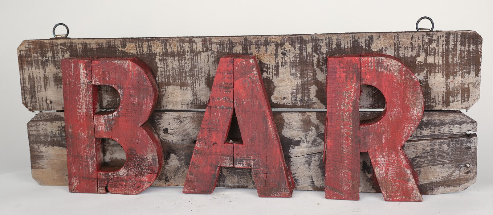Industrial Wall Decor - Rustic Wooden BAR Sign Wall Decor