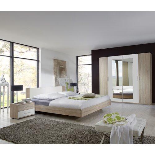4-tlg. Schlafzimmer-Set Franziska | Schlafzimmer > Komplett-Schlafzimmer | Eiche sägerau / alpinweiß | Eiche - Sägerau | Wimex
