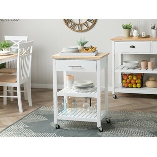 Santo Kitchen Cart Canora Grey