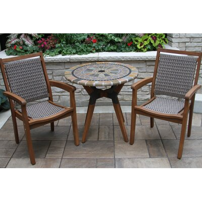 Pilar Matte Stone 3 Piece Bistro Set by Beachcrest Home #1