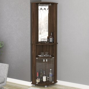 Oblak Corner Bar Cabinet by Ebern Designs
