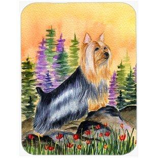 Silky Terrier Glass Cutting Board